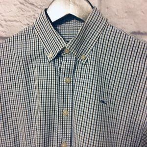 Vineyard Vines Boys Button down shirt L 16-18 blue